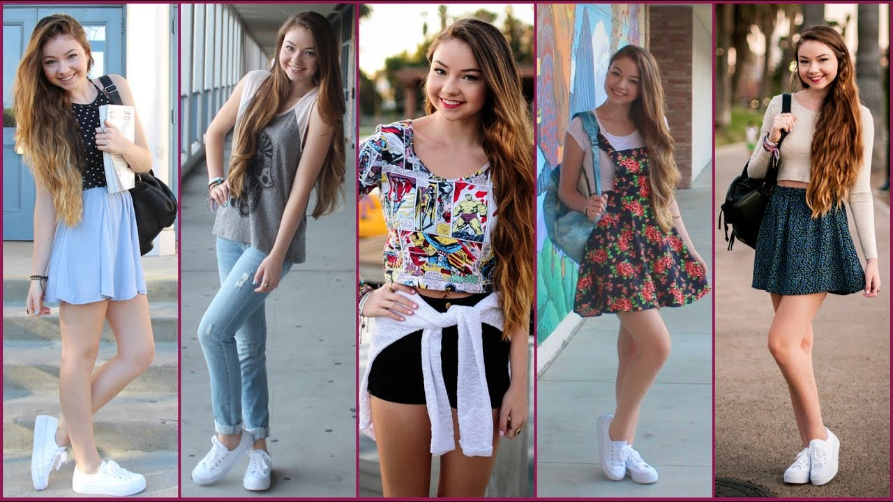 Back to School: Outfits of the Week! - YouTube