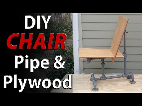 DIY CHAIR - Steel Pipes and plywood - easy homemade modern chair design