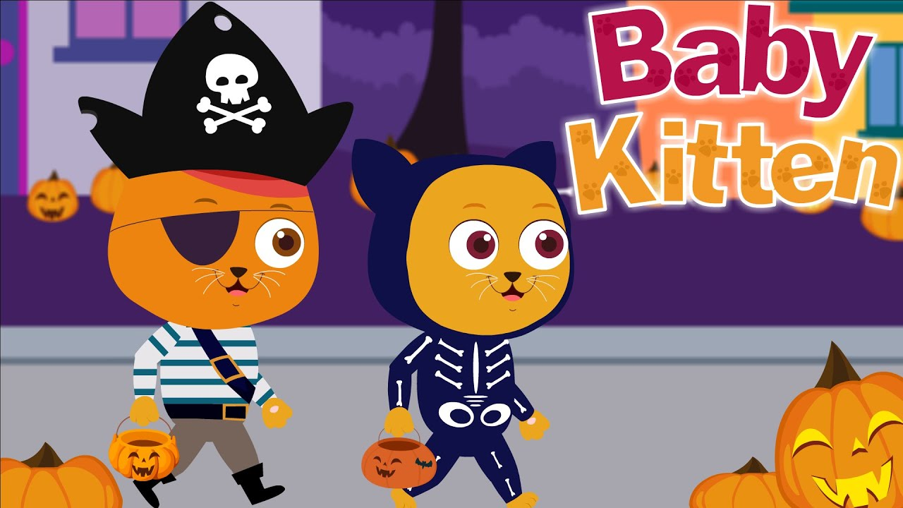 Baby Kitten | Halloween Songs for kids | Boo Boo Song | Animal Songs | Super Toddlers