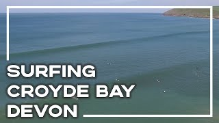 Surfing In Croyde Bay, North Devon From The Air (DJI Phantom 3 Advanced Drone)