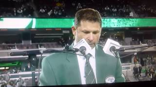 NEW YORK JETS WAYNE CHREBET RING OF HONOR SPEECH Met Life Stadium 12/1/14