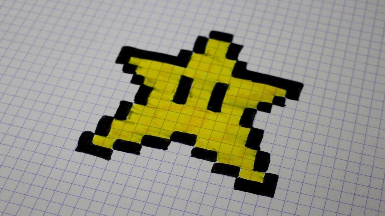 Etoile De Mario En Pixel Art