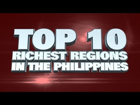 Top 10 Richest Regions in the Philippines 2014