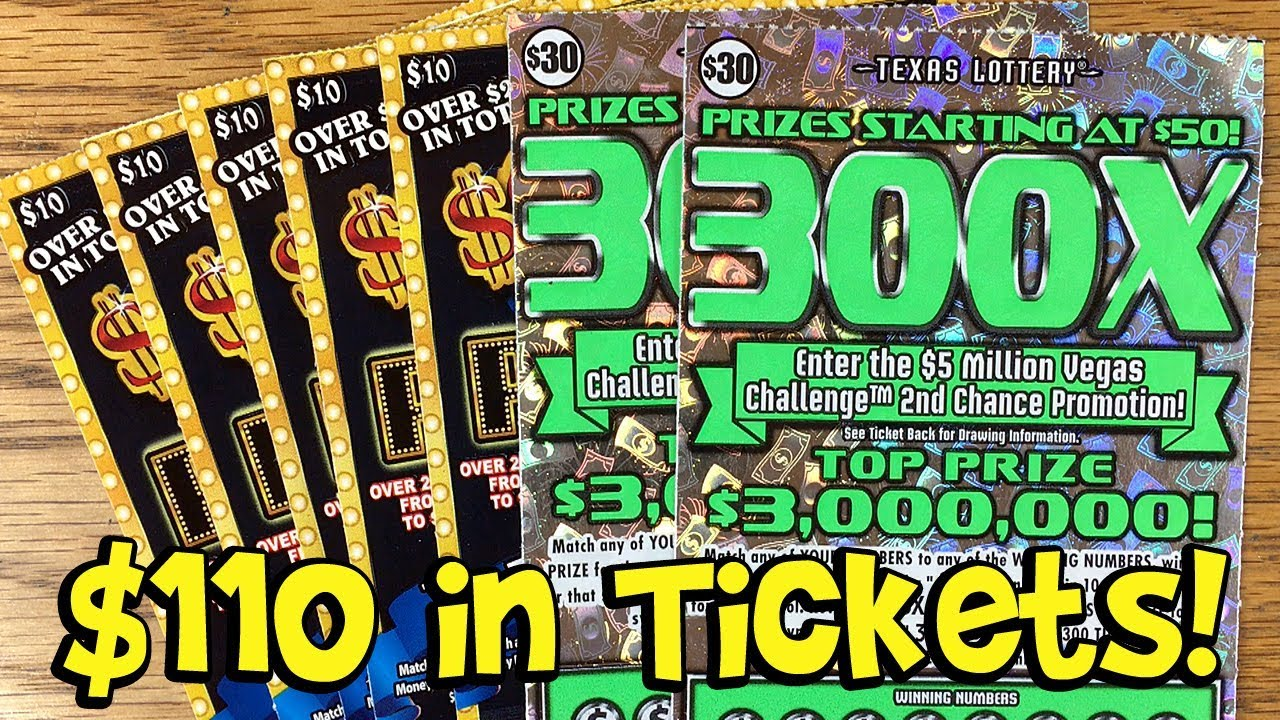 WINS! 2X $30 300X + 5X $10 $200 Million Payout! ✦ TEXAS LOTTERY Scratch Off  Tickets