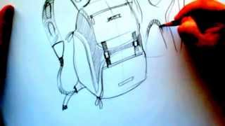 How to draw backpack_Product Design Sketching