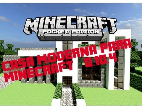 Mapa para minecraft pe casa moderna youtube for Casa moderna en minecraft pe 0 16 0
