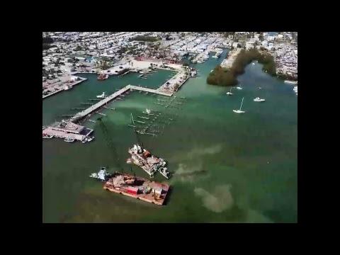 Hurricane Irma Boat Salvage - Live Drone View - Marathon, FL | Boot Key Harbor
