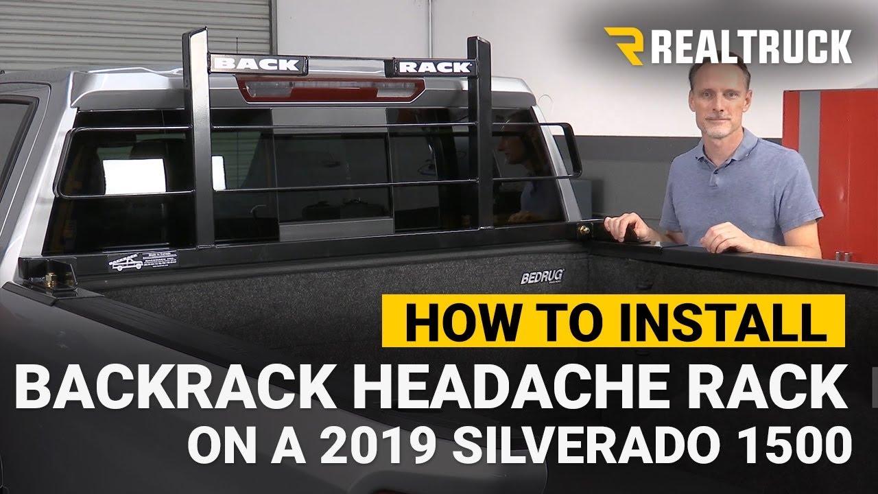 how to install backrack original headache rack on a 2019 chevy silverado