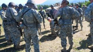 B Company, 1st Battalion, 143rd Infantry (ABN) Regiment pre-deployment training