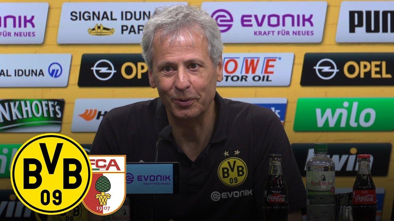 Dreier-Paco und Götze-Tor |PK mit Lucien Favre | BVB - FC Augsburg 4:3