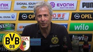 Dreier-Paco und Götze-Tor  PK mit Lucien Favre   BVB - FC Augsburg 4:3