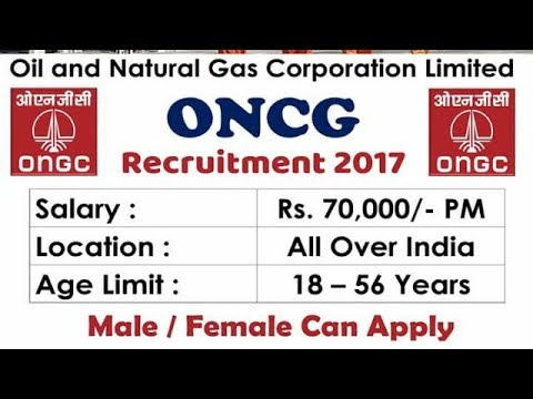 ONGC-Oil And Natural Gas Corporation of India Recruitment Notification 2017/Apply online