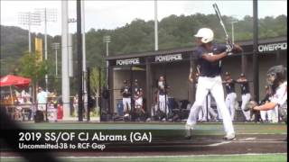 CJ Abrams SS/OF (2019) 3B - RCF Gap