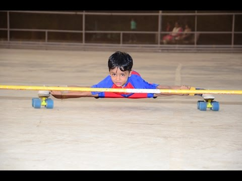 5-yr-old girl creates Limca Book of Records in Blind Backwards Limbo Skating