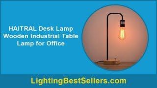 haitral desk lamp wooden industrial table lamp for