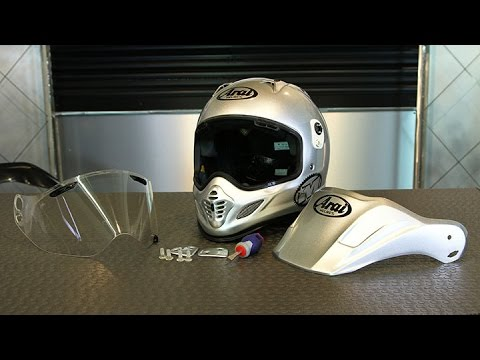 How To Change The Arai Xd 4 Face Shield Motorcycle