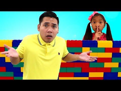 Johny Johny Yes Papa Story | Wendy Pretend Play Hiding from Homework Kids Video