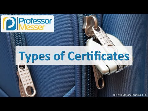 Types of Certificates - CompTIA Security+ SY0-501 - 6.4