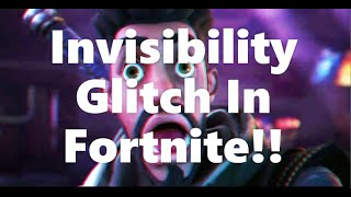 Invisibility glitch in Fortnite!!