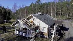 Kiilax rakennuskiila kattoasennus