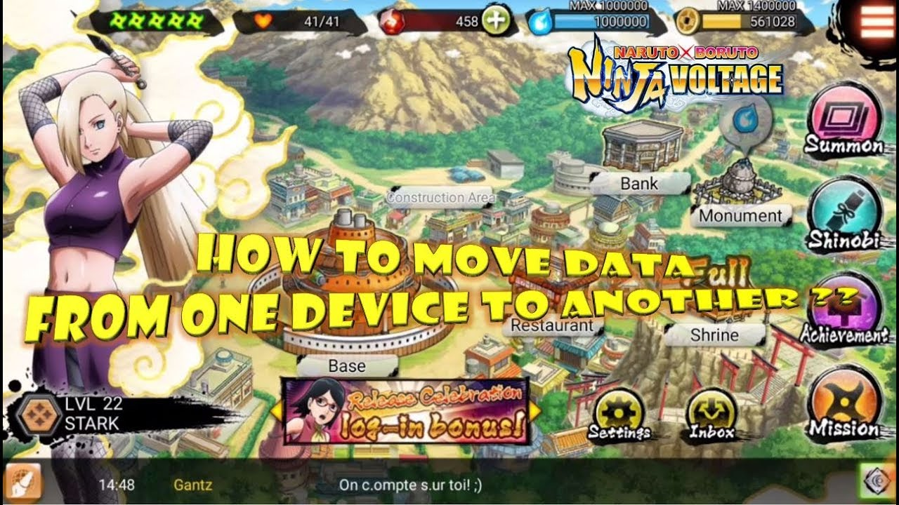 How To Transfer Data From One Device To Another : Naruto X Boruto Ninja  Voltage/ Borutage