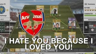 Squad: I hate you because I loved you! (Controversial Ex Arsenal Squadbuilder)