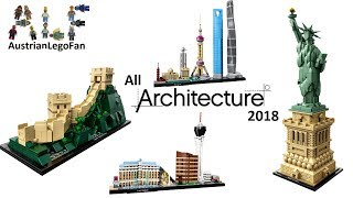 Lego Architecture 2018 Compilation of all Sets - Lego Speed Build Review