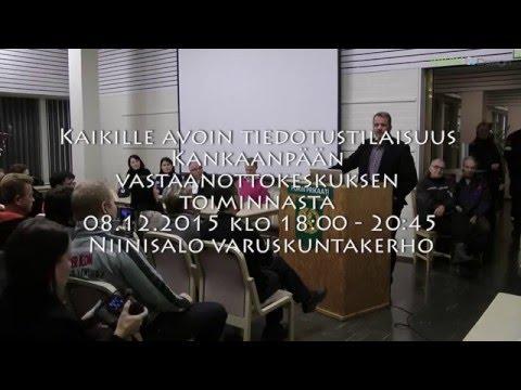 Kaikille avoin tiedotustilaisuus Kankaanpään vastaanottokeskuksen toiminnasta