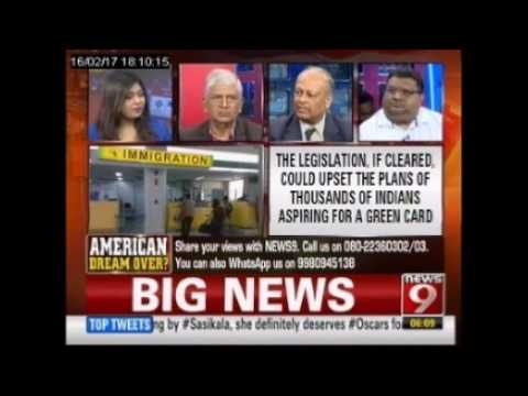 NEWS9 Panel Discussion on 'American Dream Over? H-1B Visa Issue for Indians, Donald Trump'