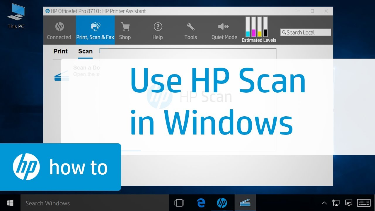 Scanning From An Hp Printer In Windows With Hp Scan Hp