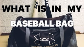 WHAT IS IN MY BASEBALL BAG?
