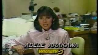 wral tv 5 action newsbrief with adele arakawa 9 26 1986