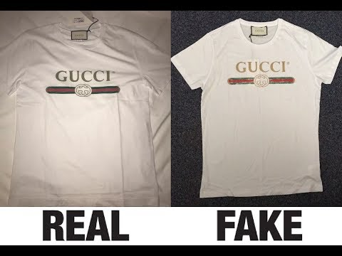 380734906 How To Spot Fake Gucci Logo Washed T-Shirt Authentic vs Replica Comparison  - YouTube