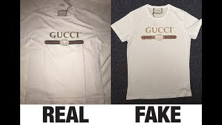 How To Spot Fake Gucci Logo Washed T-Shirt Authentic vs Replica Comparison