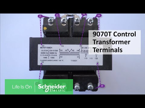 Identifying Terminals on 9070T Industrial Control Power Transformers |  Schneider Electric Support - YouTubeYouTube