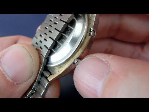 Vintage digital wristwatch refurbishment