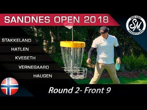 Sandnes Open 2018 | Round 2 Front 9 | Stakkeland, Hatlen, Kveseth, Vernegaard, Haugen