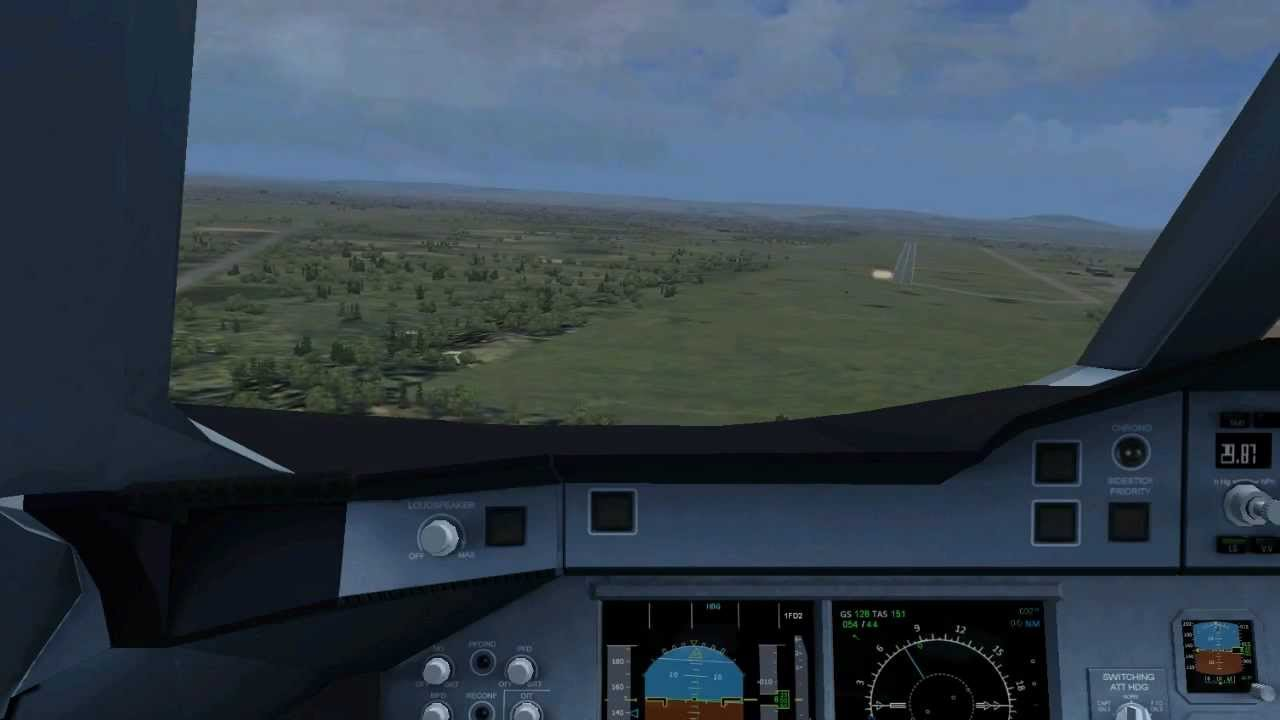 Project Airbus A380 - 50 kts Crosswind Landing at Belgrade (LYBE)