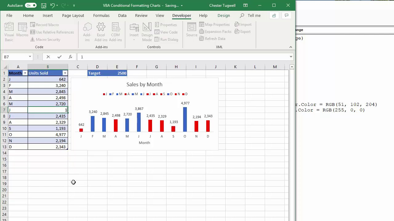 VBA to Conditionally Format Charts in Excel