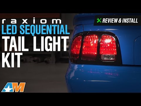 1996-2004 Mustang Raxiom LED Sequential Tail Light Kit Review & Install