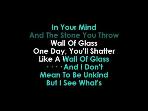 Wall of Glass karaoke Liam Gallagher
