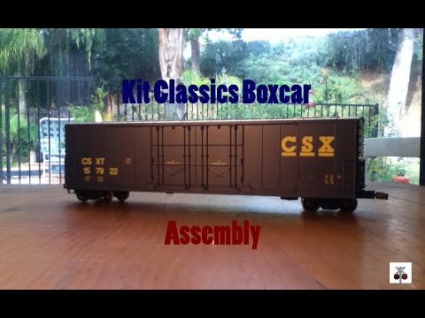 Assembly of a Scale Trains HO Scale Kit Classics Boxcar