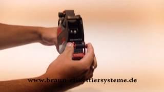 Braun Etikettiersysteme: Farbrollenwechsel Contact Preisauszeichner 22-26er-Serie