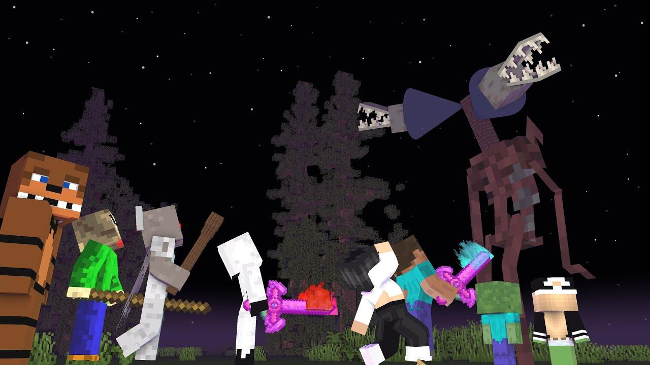 Siren Head Vs Monster School, Fnaf, Granny, Baldi, Sodaka, Entity 303 (Minecraft Animation)