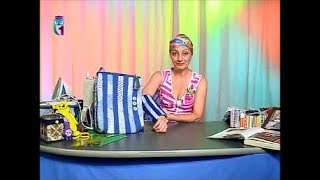 Лоскутное шитье. Шьем сумки из ткани в полоску. Татьяна Лазарева. Мастер класс