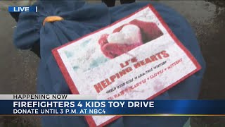 Donations pouring in for Firefighters 4 Kids Toy Drive
