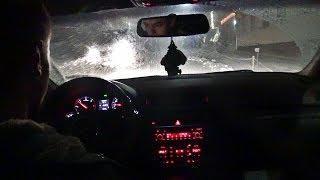 Audi A4 B6 Winter Night Drive