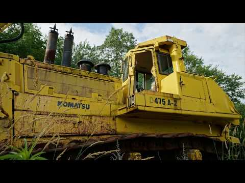 Abandoned Komatsu Bulldozer near MINE  DISASTER  site Eastern Pa