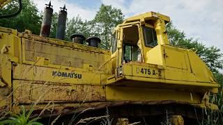 Abandoned Komatsu Bulldozer near MINE  DISASTER  site Eastern Pa