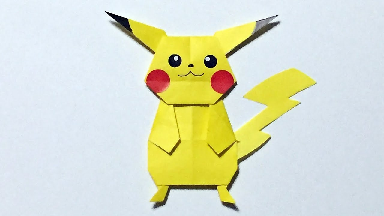origami pikachu tutorial how to make a paper pokemon